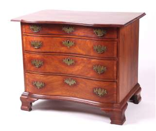 Reverse Serpentine Blockfront Chest of Drawers