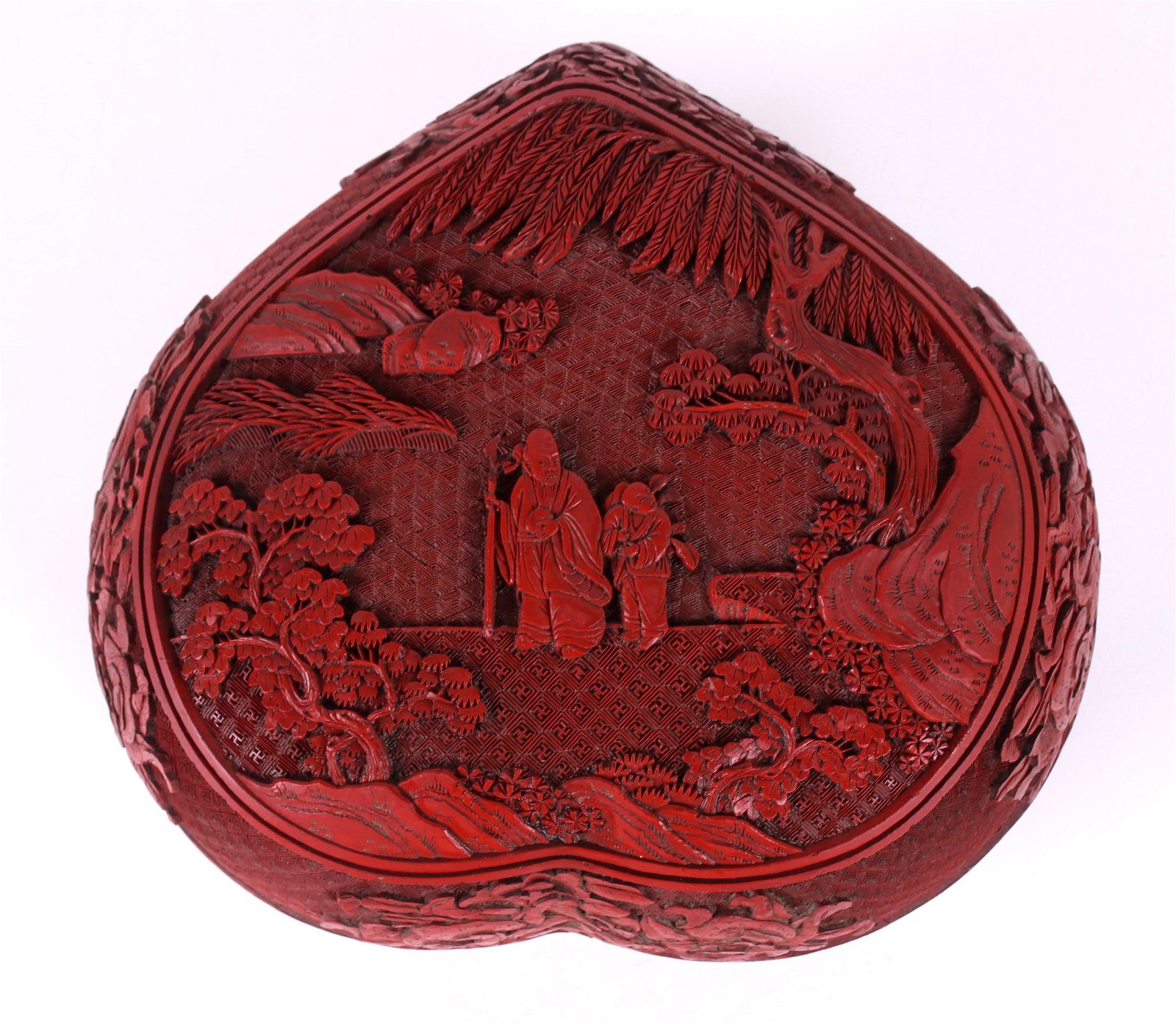 A Large Chinese Cinnabar Box