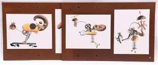 Four Digital Computer Art Prints