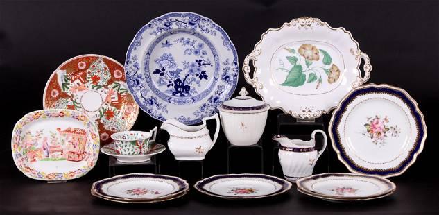 A Group of English Ceramics