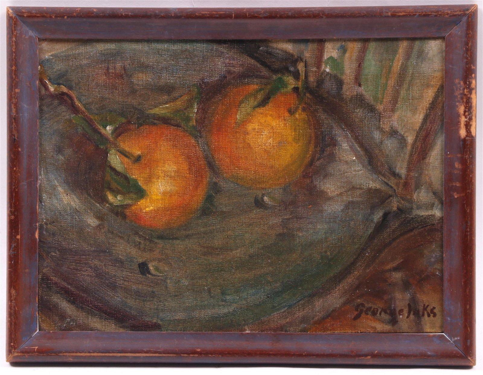George Luks (American 1867-1933) Oil on Board