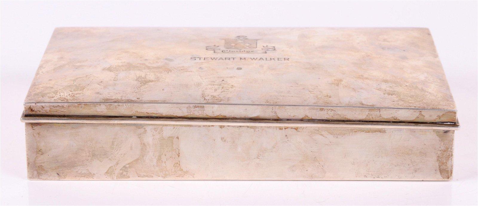 Claridge Hotel Sterling Silver Cigar Box