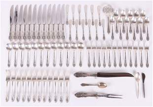 Sterling Silver Flatware Service by Wallace