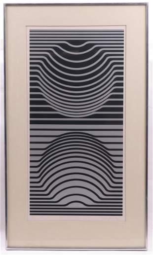 Victor Vasarely, Op Art Serigraph