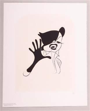 Al Hirschfeld (American 1903-2003) Judy Garland