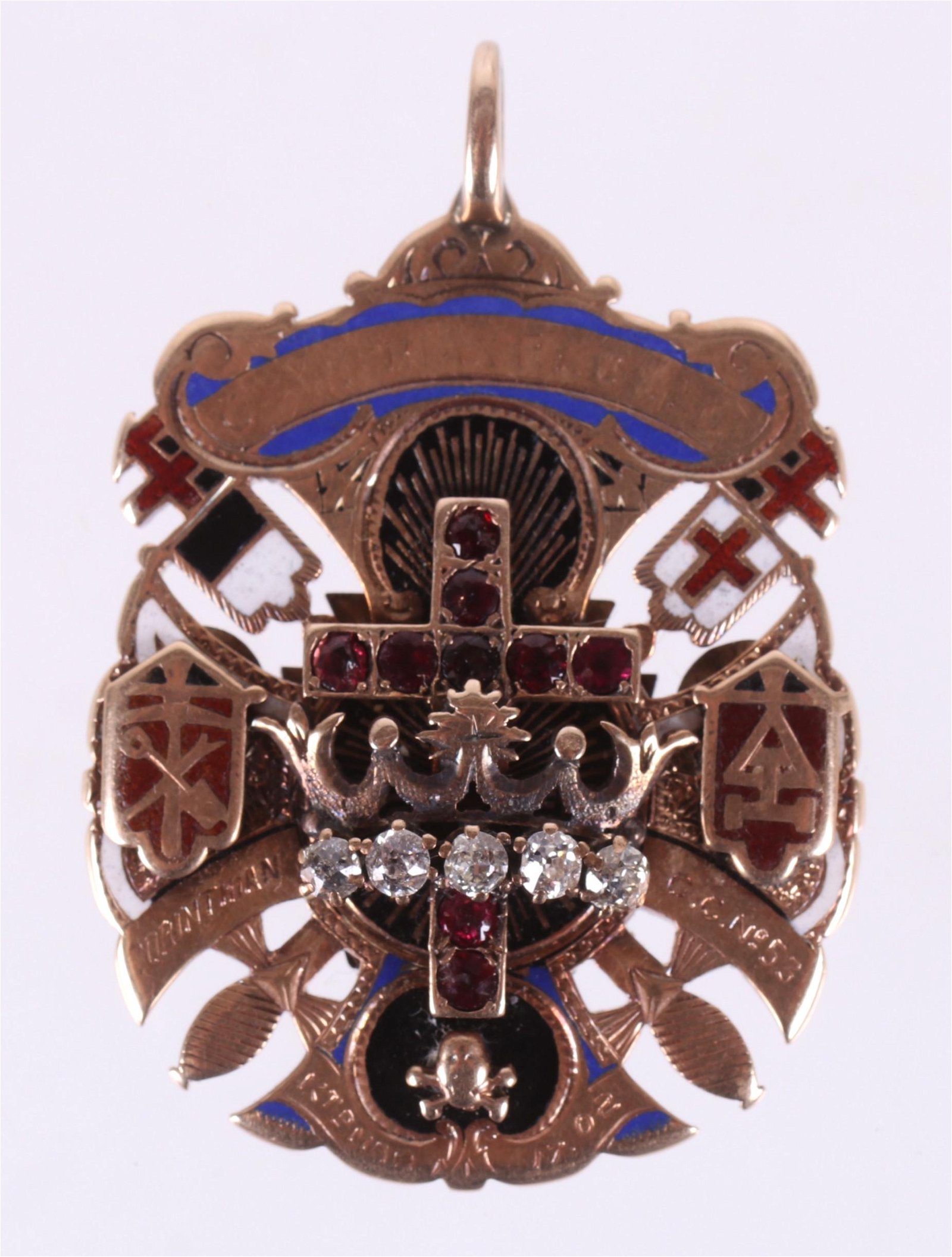 A 14k Gold Masonic Pendant