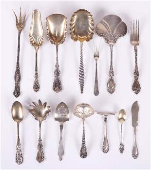 Unusual Sterling Silver Servers and Other Flatware