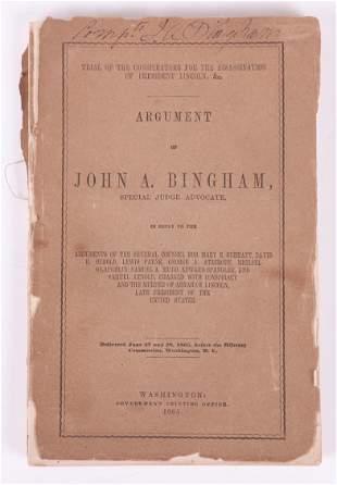 Book Argument of John A Bingham Lincoln Interest