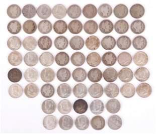 US Silver Coins 64 Half Dollars Various Types