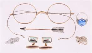 Jewelry and Spectacles Including 14k Gold