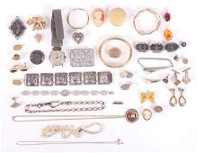 A Group of Estate Jewelry Sterling Costume Etc