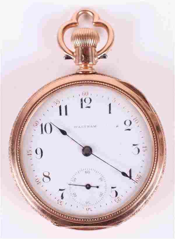14k Gold Pocket Watch by Waltham