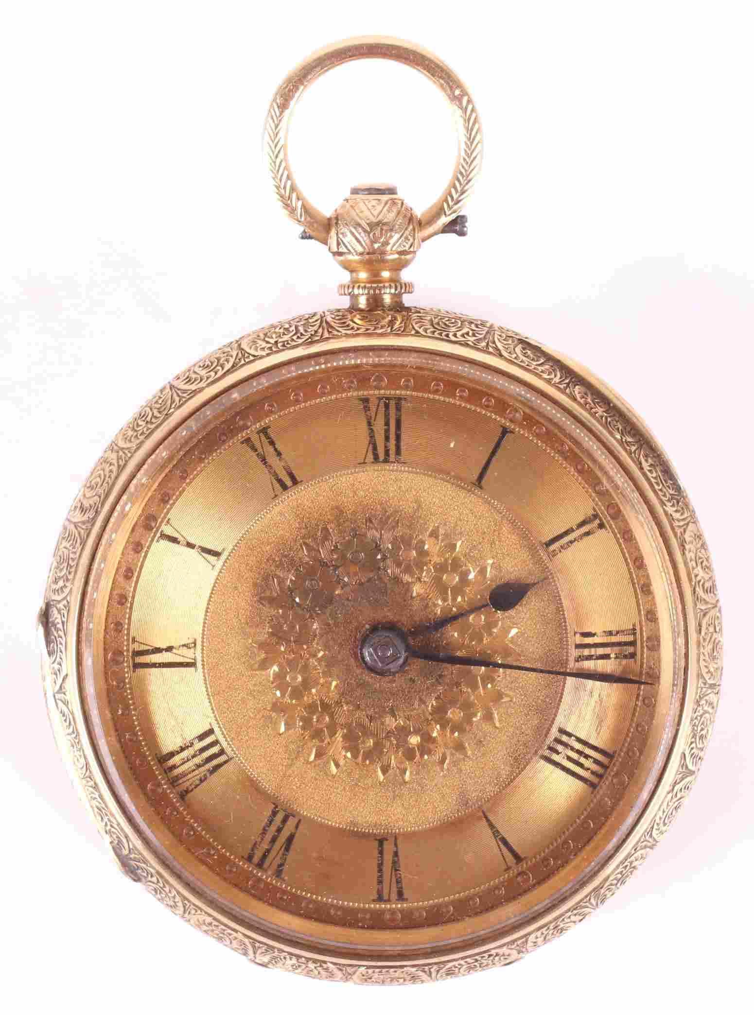 British 18k Gold Pocket Watch, Chester