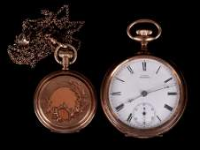 Two Pocket Watches 14k Gold Elgin and a Waltham