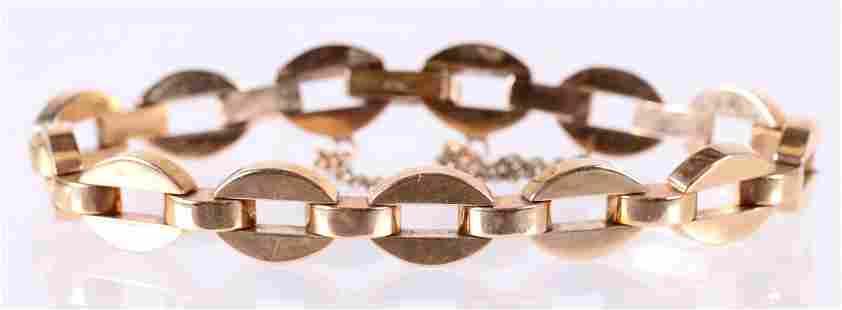 A 14k Gold Chain Link Bracelet