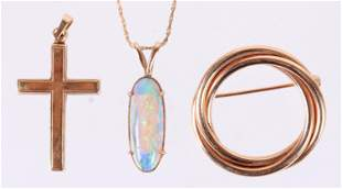 Three Pieces of 14k Gold Jewelry