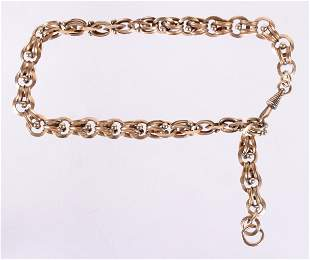 A Circa 1900 14k Gold Watch Chain