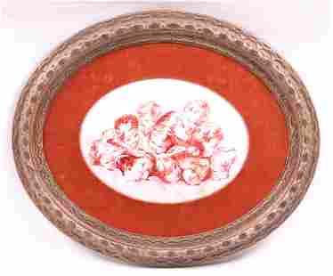 Framed Porcelain Plaque Manner of Bartolozzi