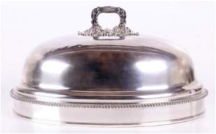 A Large Old Sheffield Plate Meat Dome