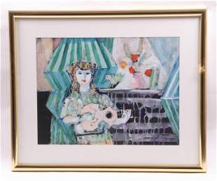20th Century Watercolor Signed Ross