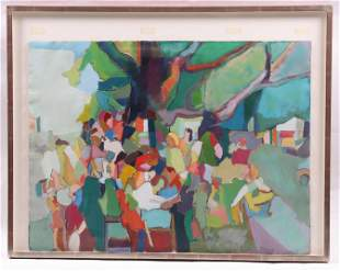 Att: Jack Ramsey (American 20th Century) Oil/Paper