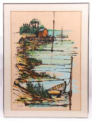 Frank Capasso (American 1924-2007) Watercolor