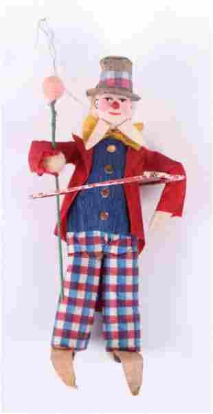 A German Ringmaster Clown Christmas Ornament