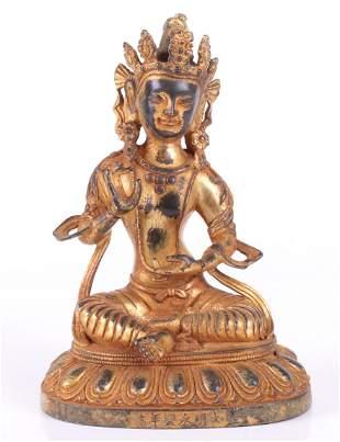 Gilt Bronze Vajrasattva, Sino-Tibetan