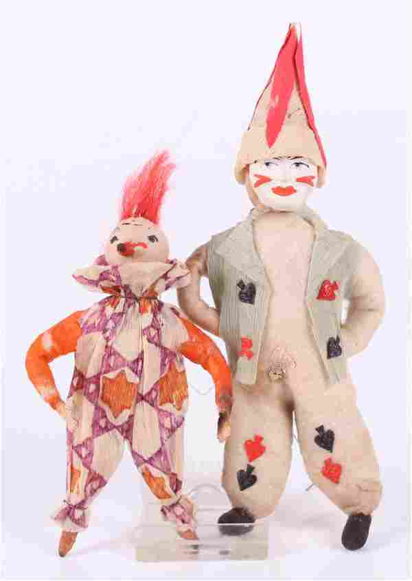 A German Christmas Ornament, Two Clowns