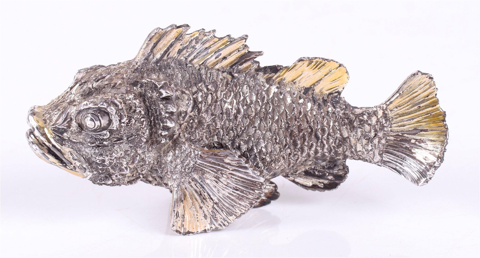 A Sterling Silver Figure of a Fish