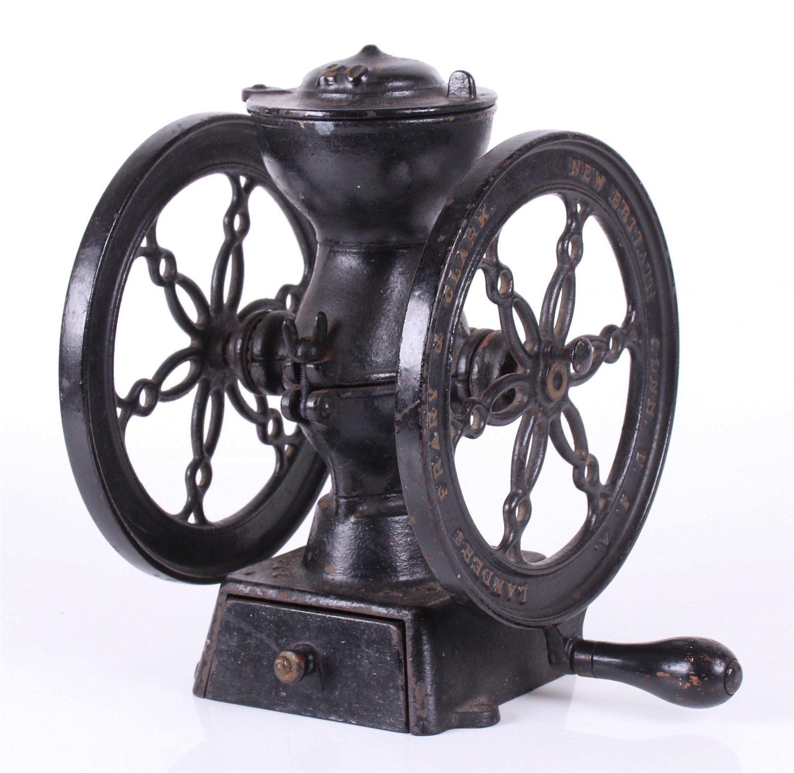 19th Century Cast Iron Coffee Grinder
