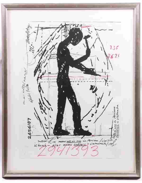Jonathan Borofsky (American b. 1942) Serigraph