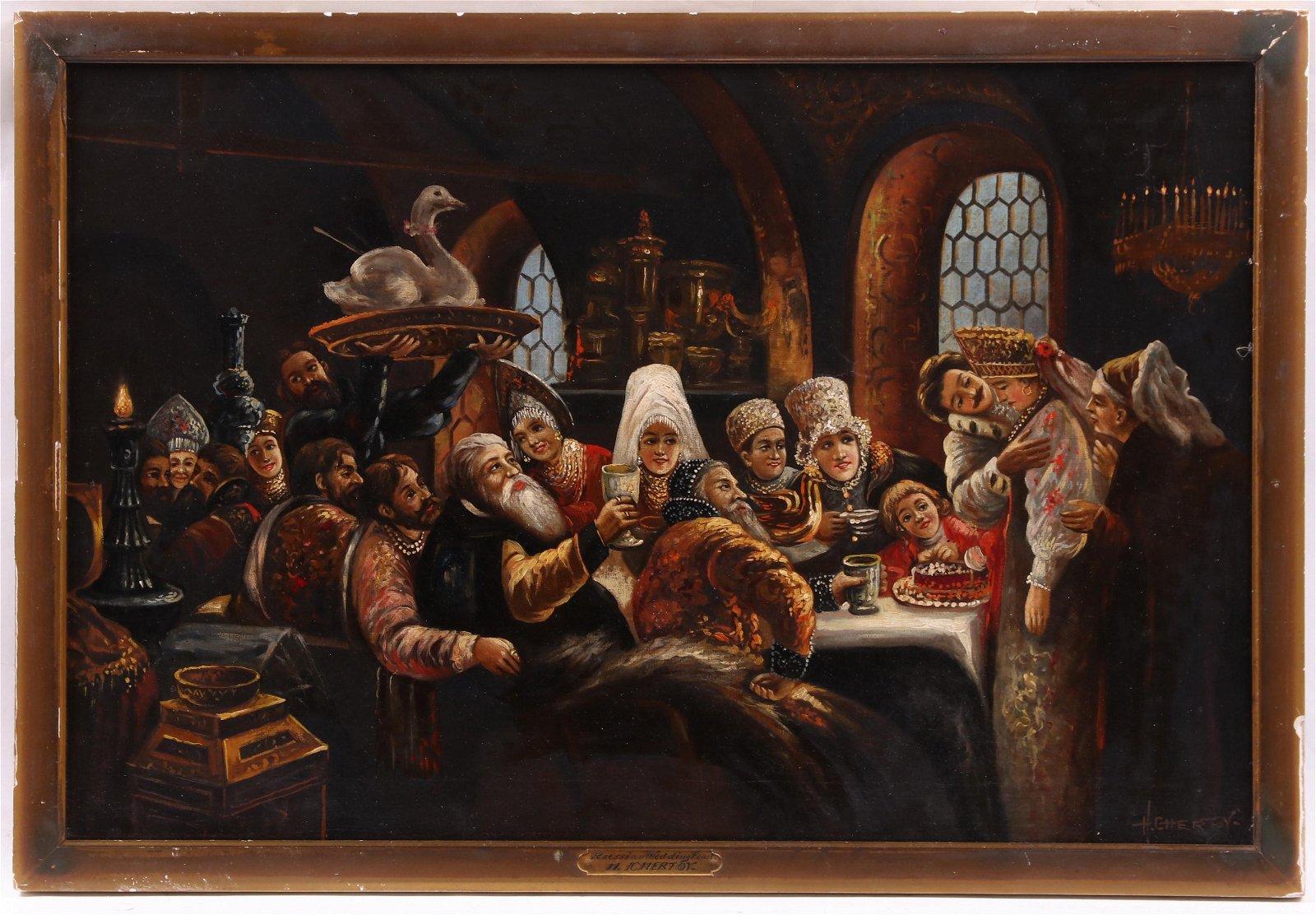 After Konstantin Yegorovich Makovsky, Oil on Canvas