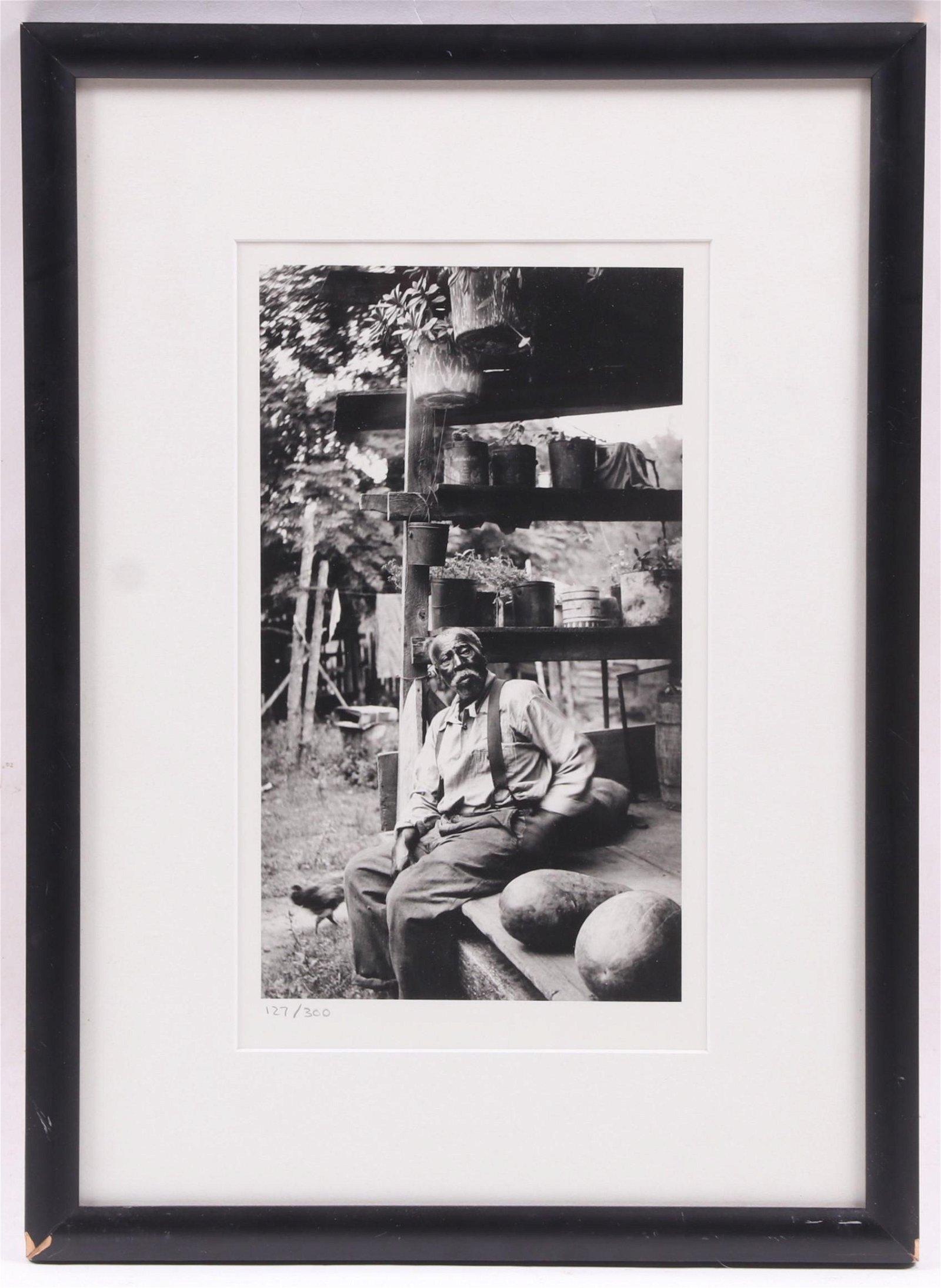 After Eudora Welty Photograph, Elderly Man
