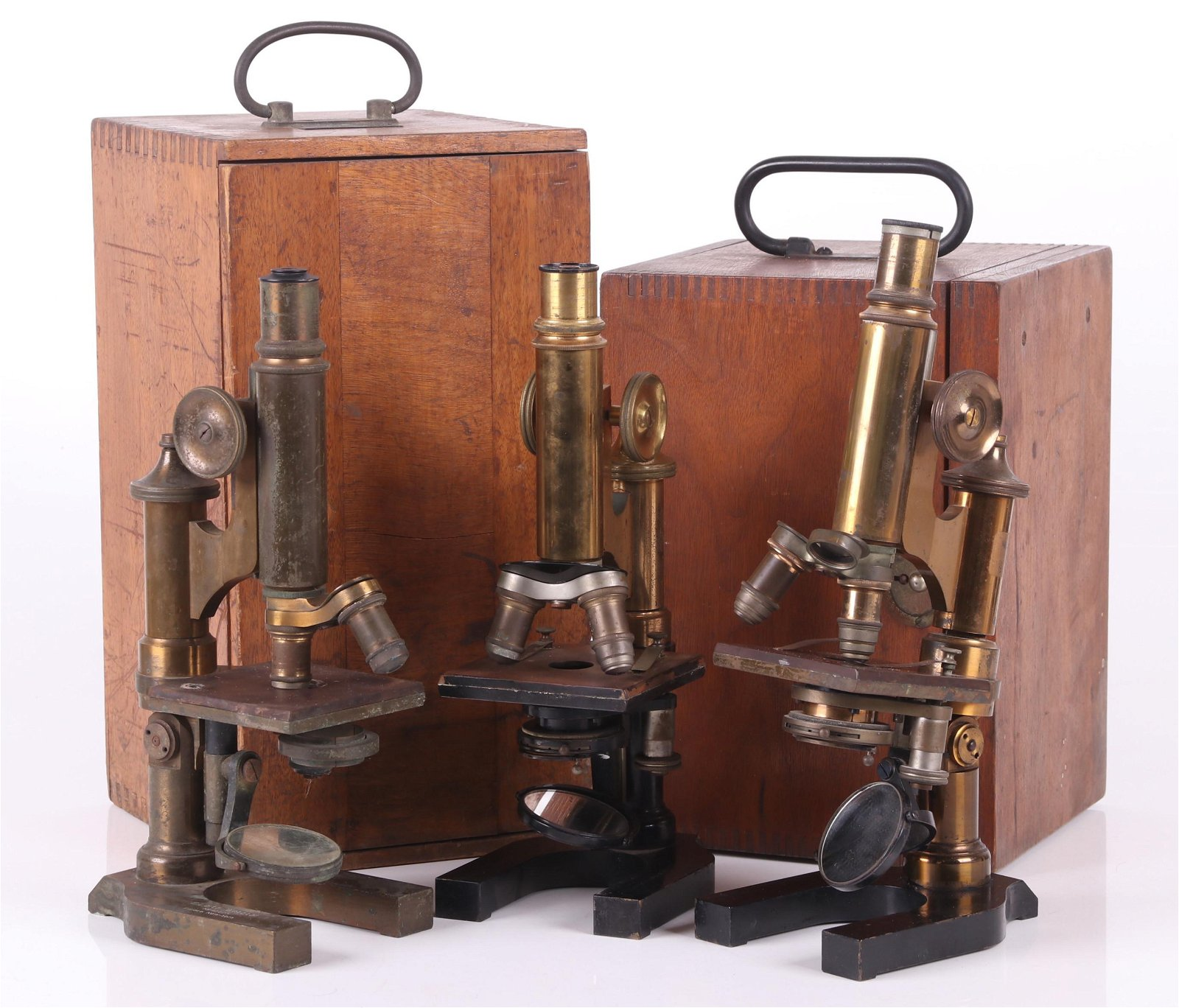 Three Leitz Wetzlar Microscopes, Circa 1900