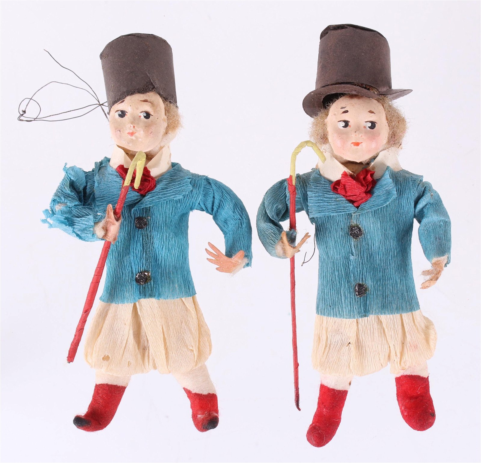 A Pair of German Christmas Ornaments