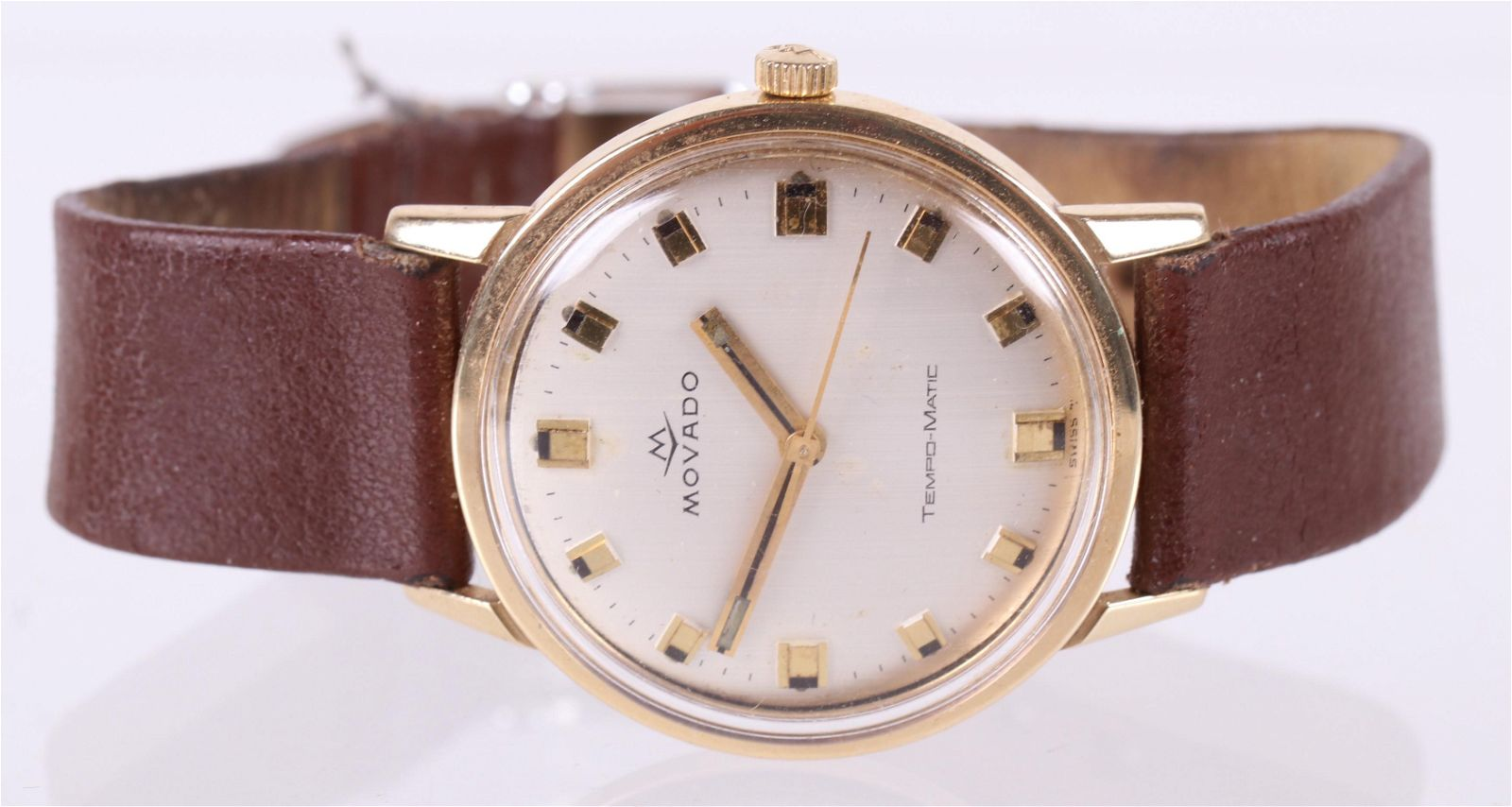 A Movado Men's Automatic 14k Gold Wristwatch
