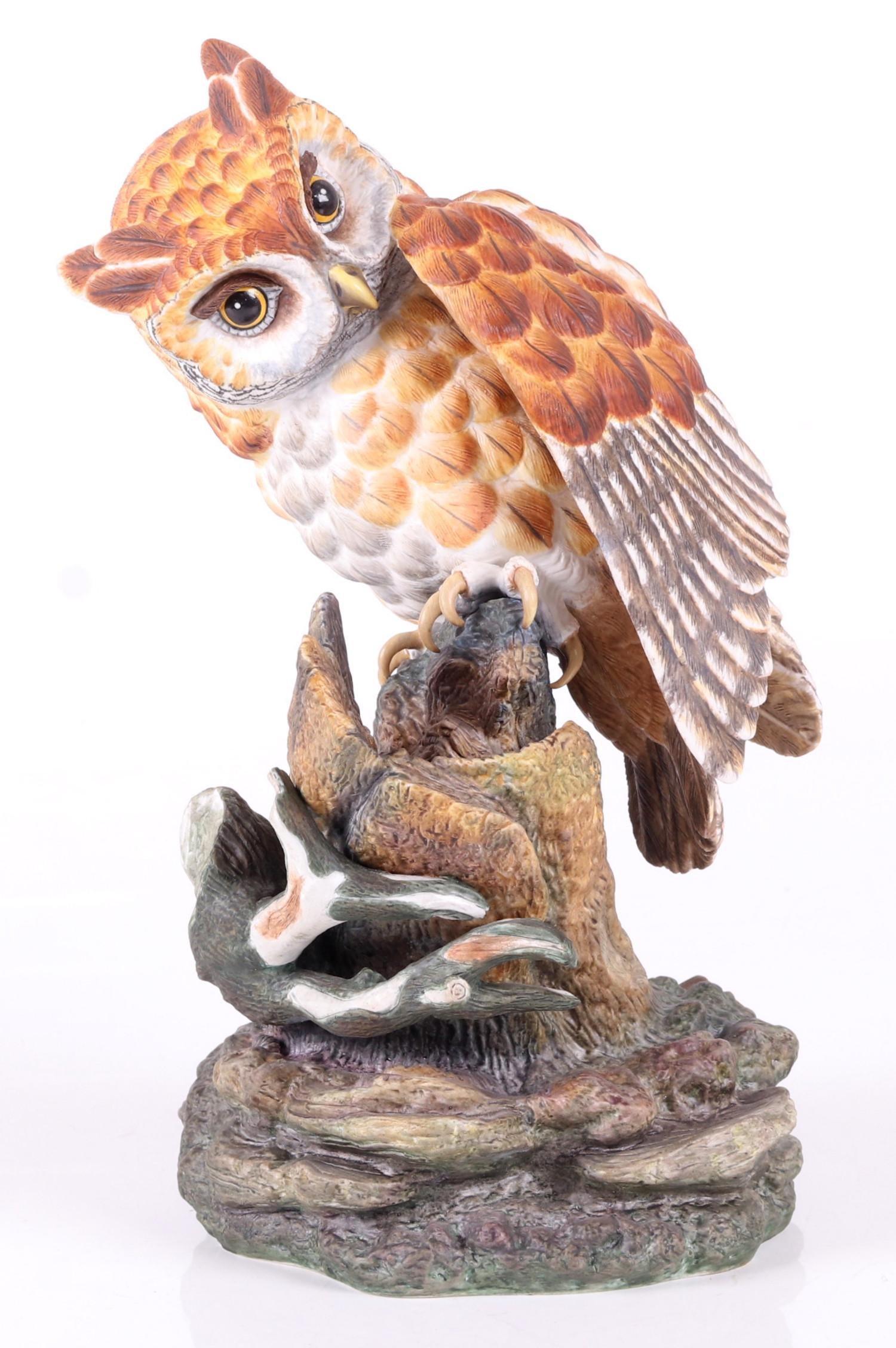 Boehm Porcelain Figure, Screech Owl