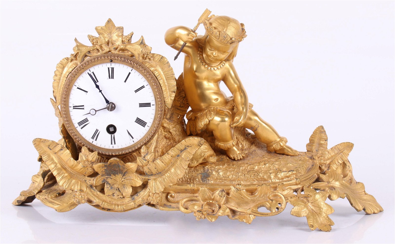 A French Gilt Bronze Clock