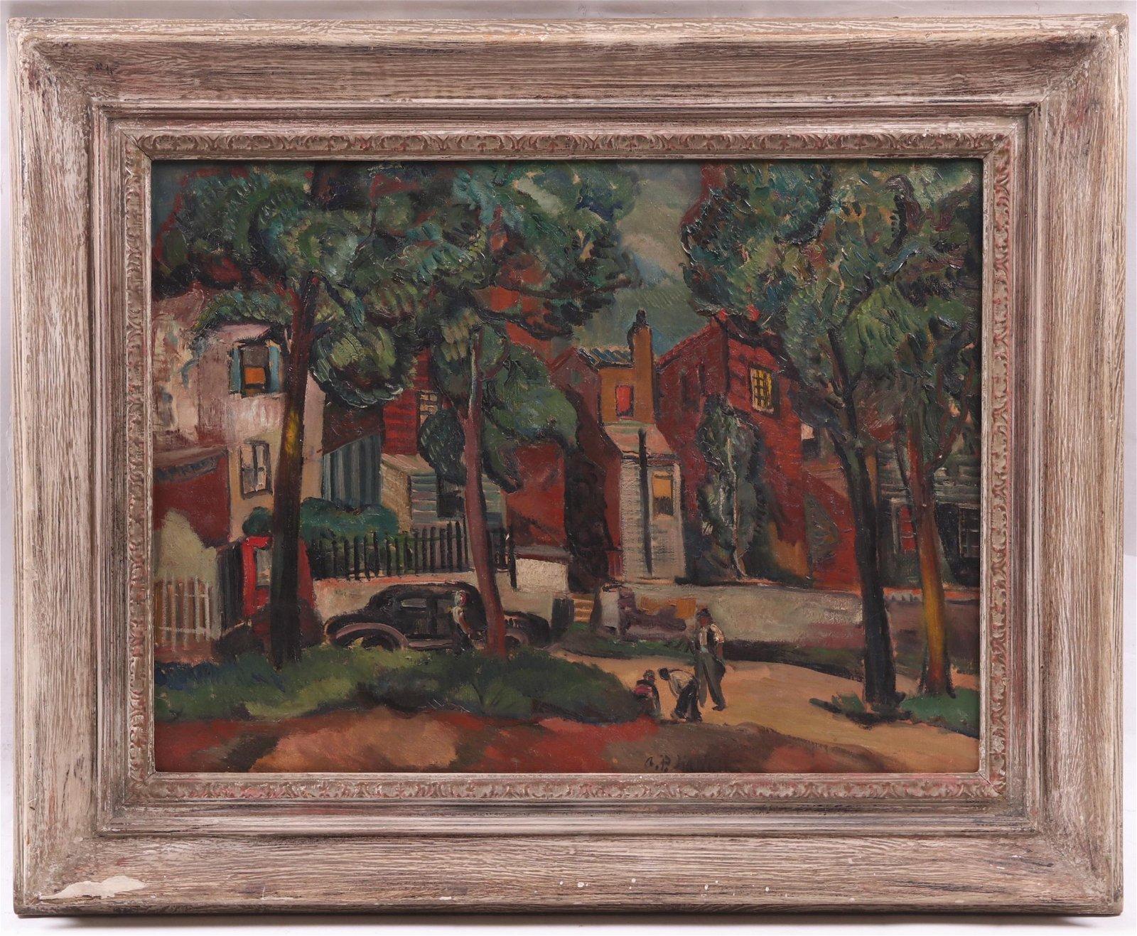 Abraham Hankins (American 1904-1963) Oil on Canvas