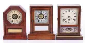 Three 19th Century Mantle Clocks