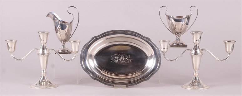 Five Pieces of Sterling Silver Holloware
