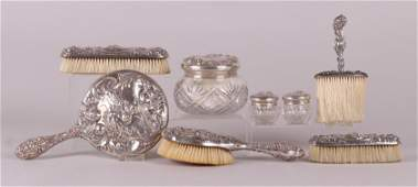 Sterling Silver Vanity Set Loves Dream by Unger
