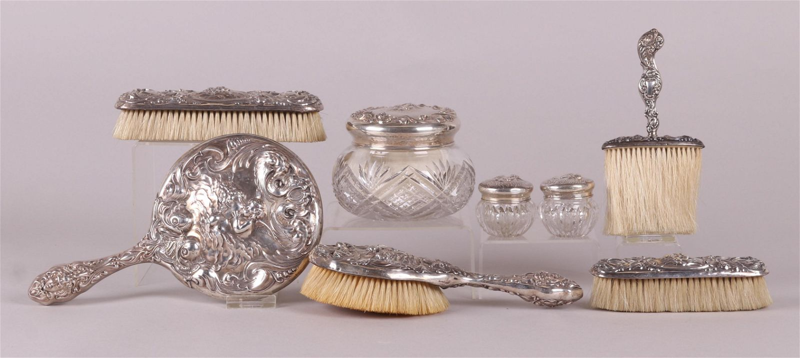 """Sterling Silver Vanity Set, """"Love's Dream"""" by Unger"""