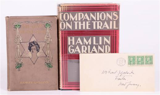 Hamlin Garland Two Books and a Signed Letter