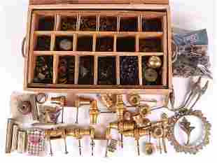 Large Group of Ormolu, Brass, and Other Hardware