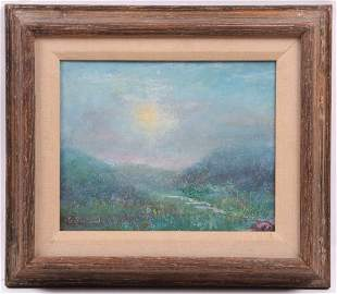 Impressionist Oil on Canvas, Signed Le Bertrand