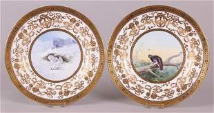 A Pair of Minton Plates, James Edwin Dean
