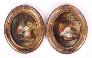 Narcisse Virgilio Diaz (Sp/French 1808-1876) Two O/B