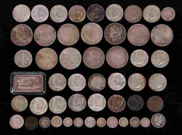 US and Other Coins: Silver, Morgan, Large Cent, etc.